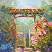 Japanese Secret Garden, Impressionist Provence Landscape