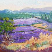 Lavender Wonderland Impressionist Provencal Landscape