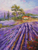 Provence Lavender oil palette knife painting