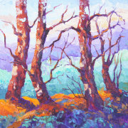 Provence Pines impressionist oil painting