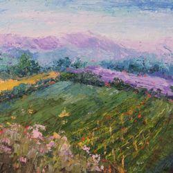 Provence Landscape - Vineyard and Lavender