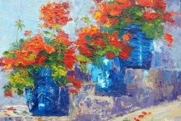 Provence Pots - Summer Geraniums