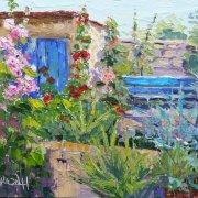 Hollyhocks in Provence
