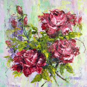 Sweet Scent, Roses Still Life Oil Painting