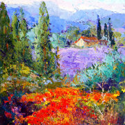 Hidden from View, Impressionist Provence Landscape