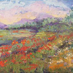 Poppy Meadows 2 Provence Impressionist Landscape