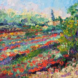 Provence Poppy Extravaganza knife painting