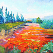 Provence Flower Show impressionist painting