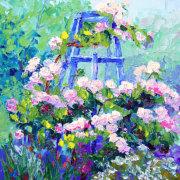 Summer Essence, Roses Still Life Oil Painting