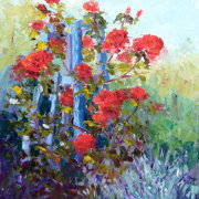 Summer Scent, Roses Still Life Oil Painting
