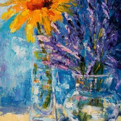 A taste of summer, sunflowers and lavender