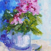 The Gift - Floral Still Life painting