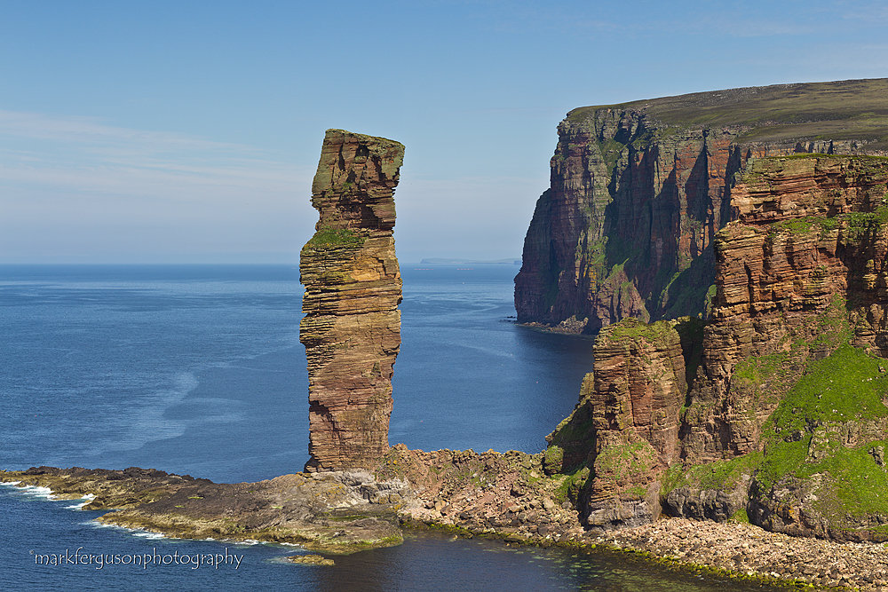 Old Man of Hoy in summer