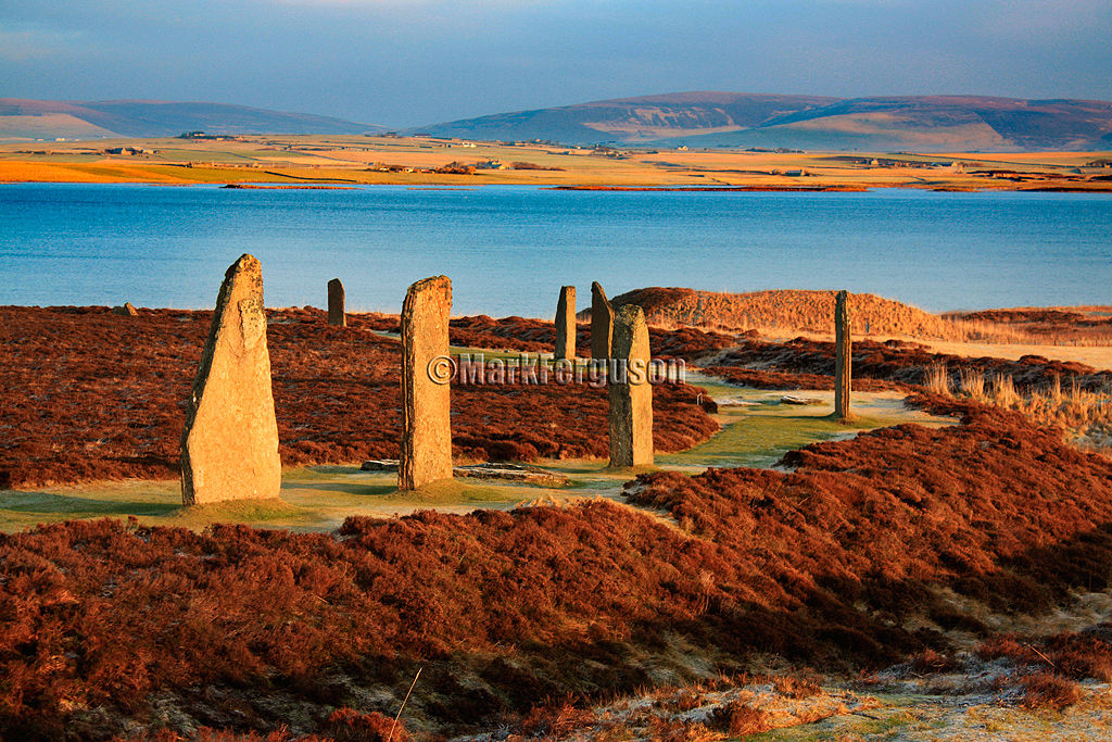 The Harray Loch and Ring of Brodgar