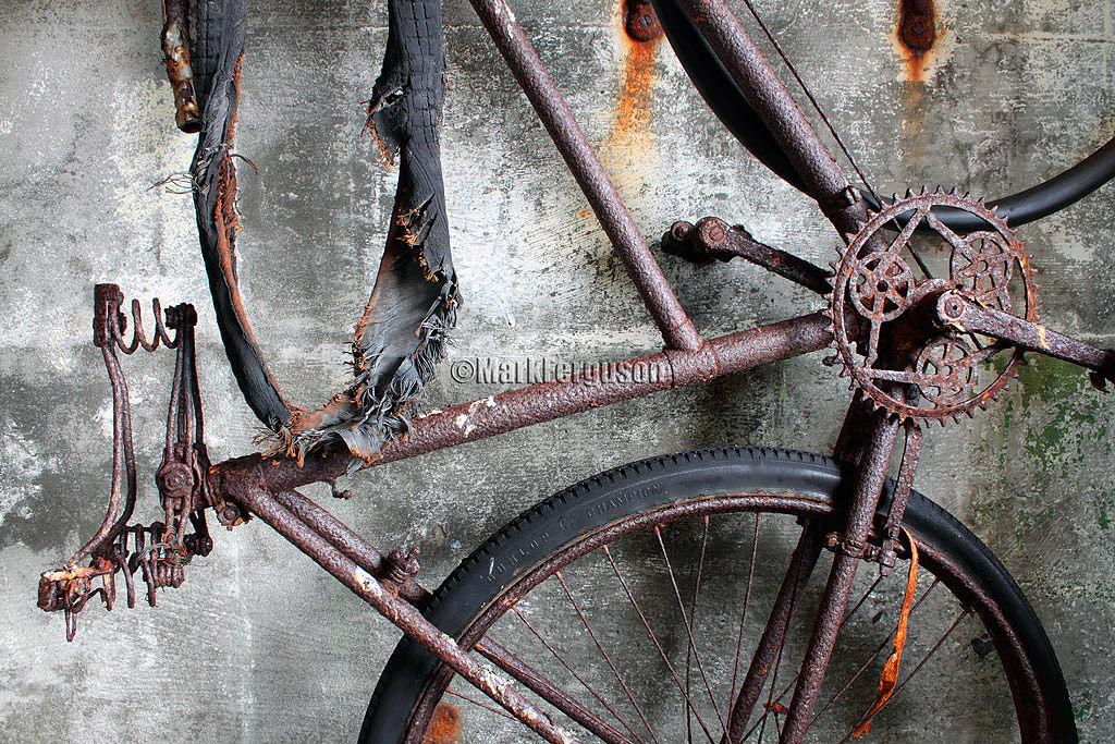 2nd world war bike at Rerwick
