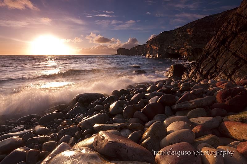 Harrabrough Head winter sunset