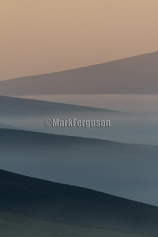 Harray Hills in mist