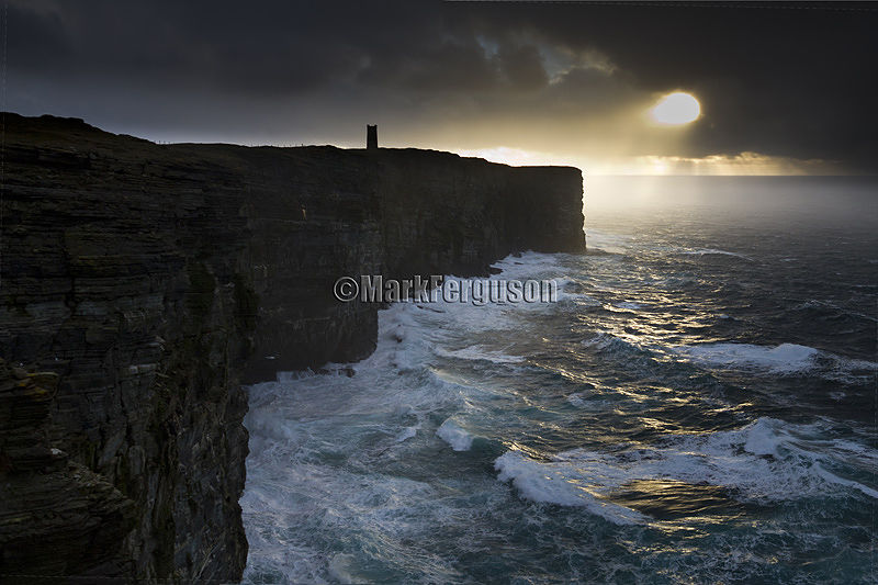 Stormy sky at Marwick Head