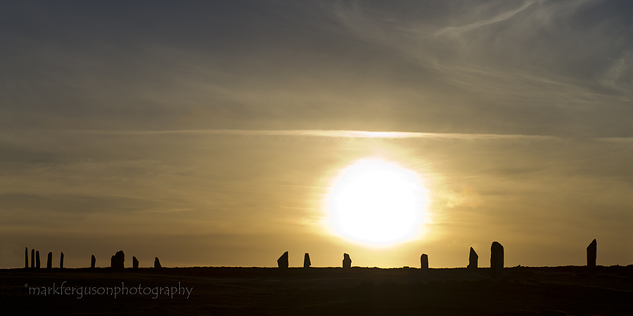 Silhouetted stones