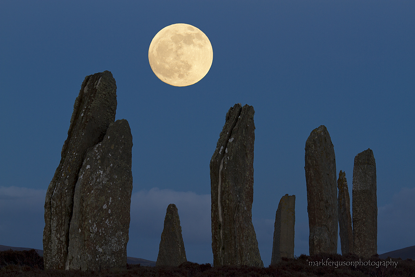 Ring of Brodgar moonrise