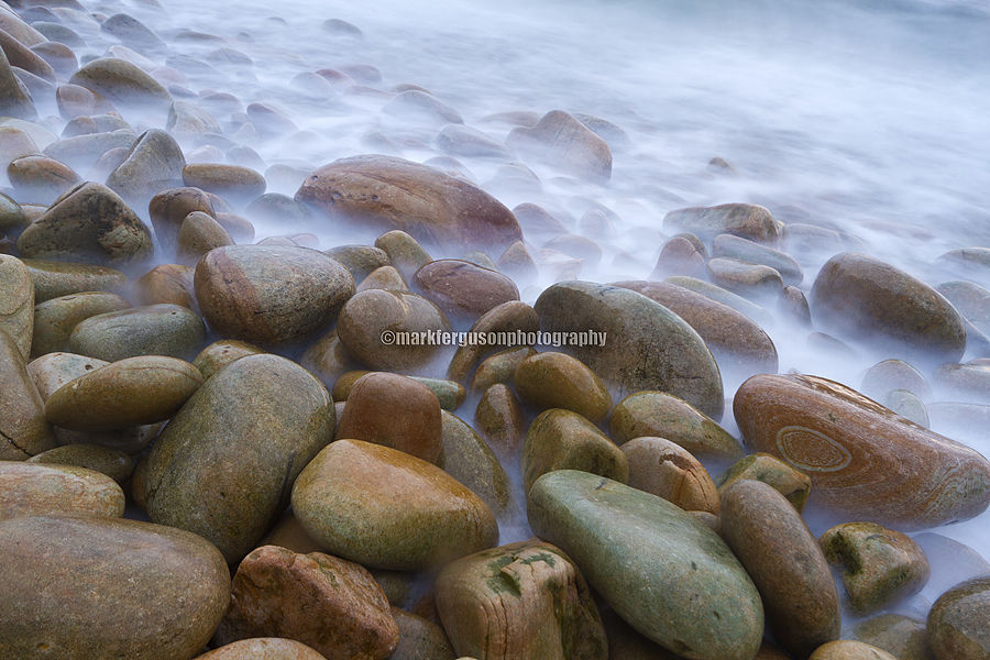 Misty pebbles