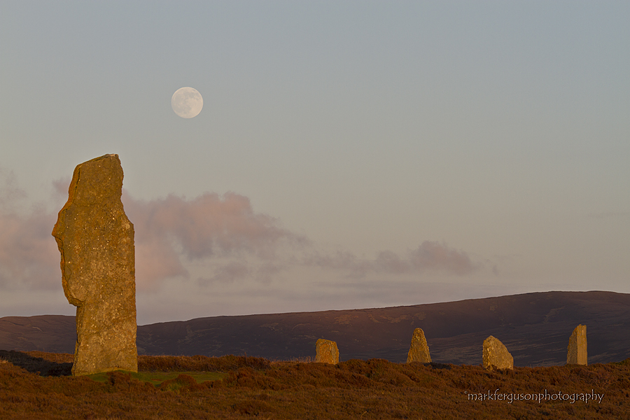 Full moon over Ring of Brodgar