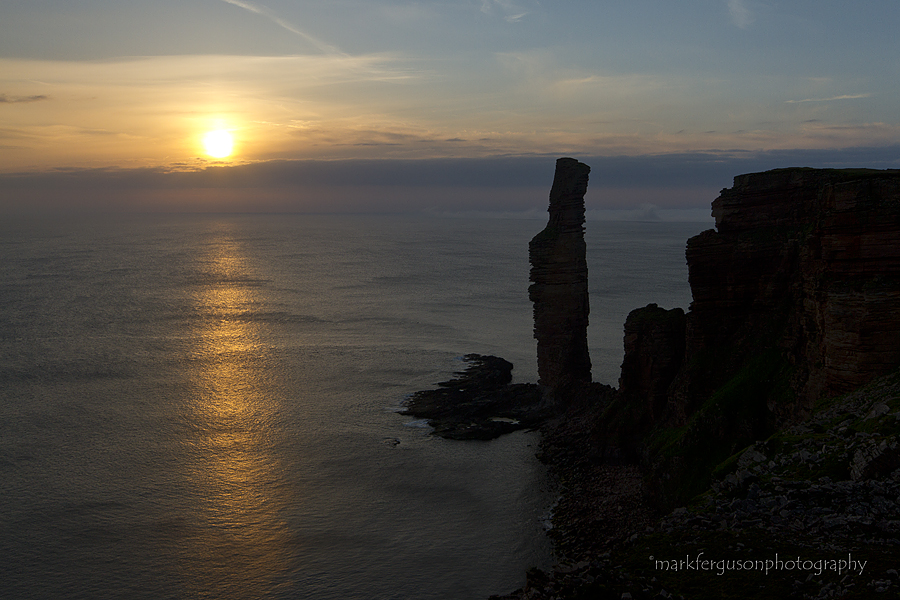 Old Man of Hoy summer sunset
