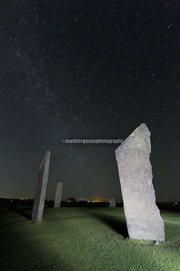 Stones of Stenness at night