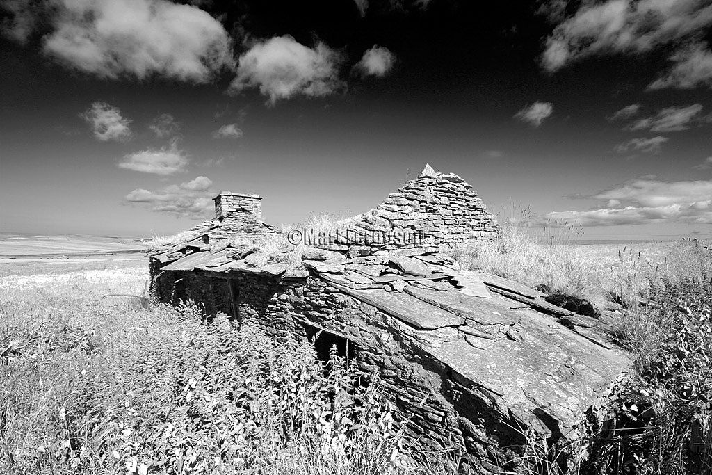 Stone Cottage in infrared