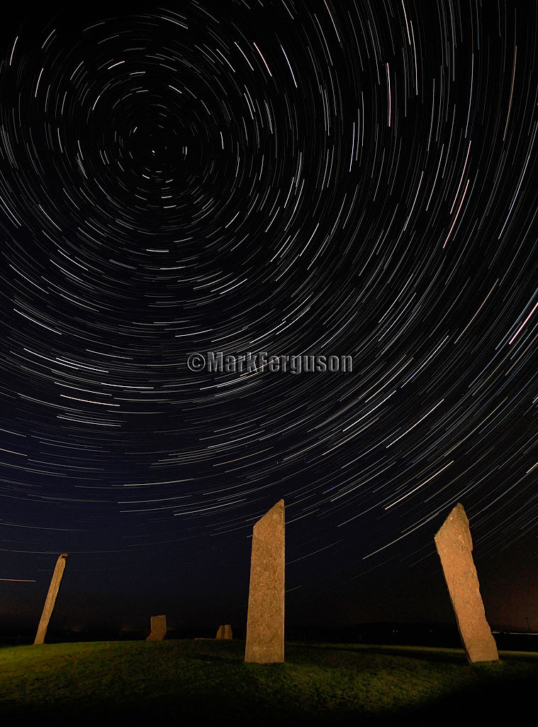Stenness Standing Stones under the stars