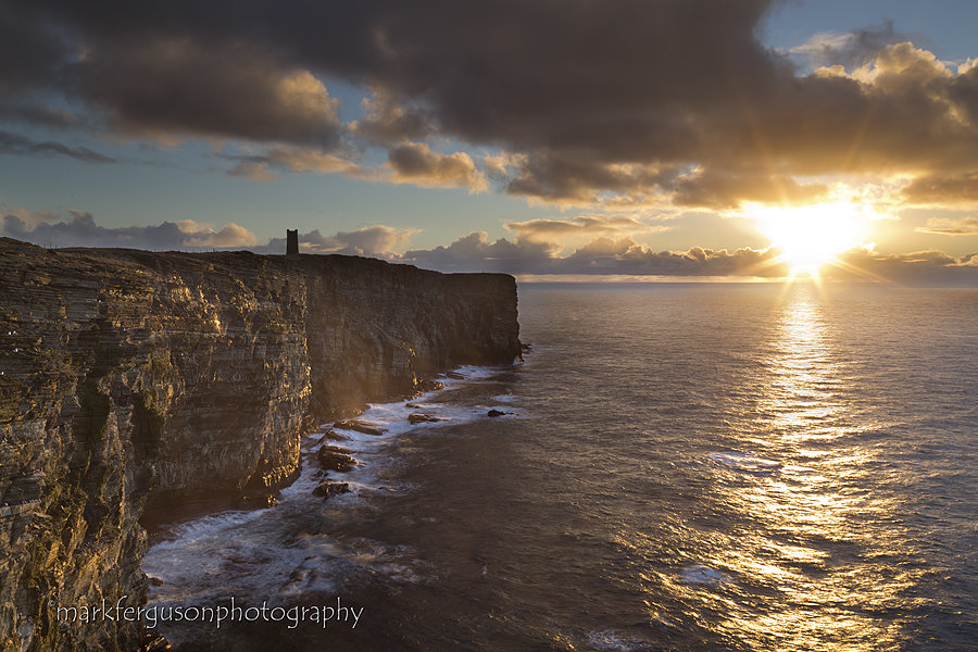Marwick winter sunset