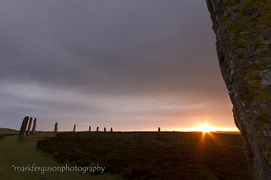 Ring of Brodgar sunburst