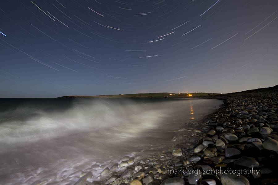 Skaill Bay under moonlight