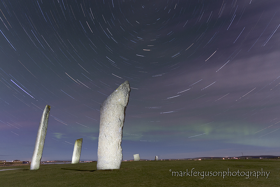 Stenness aurora and startrails