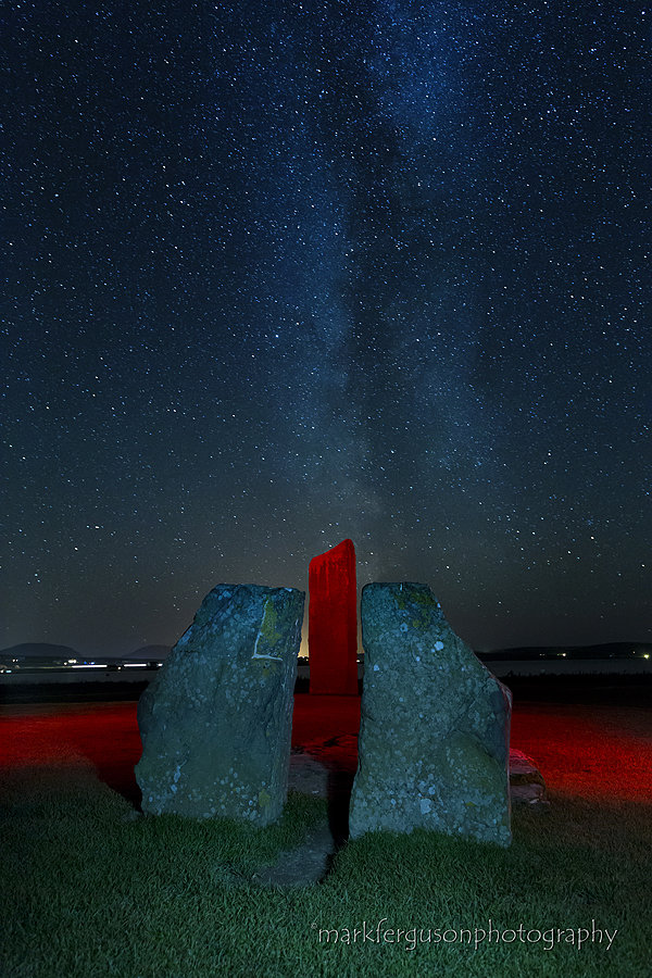Stenness Stones under the Milky Way