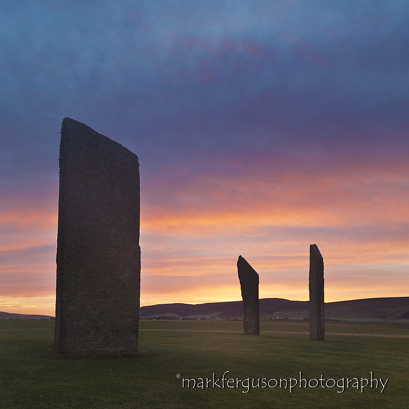 Stenness Stones sunrise