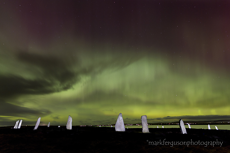 Northern Lights over Ring of Brodgar