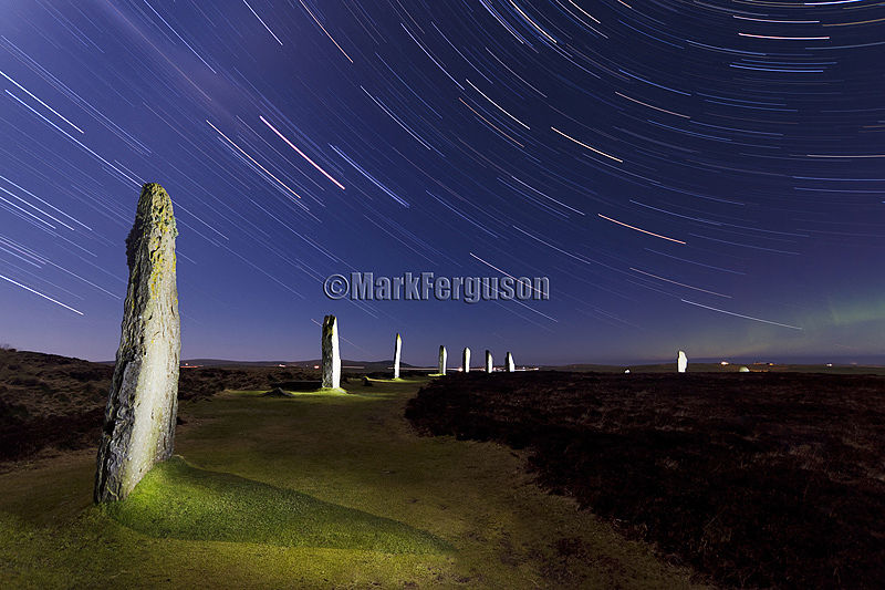 Auroral glow at The Ring of Brodgar