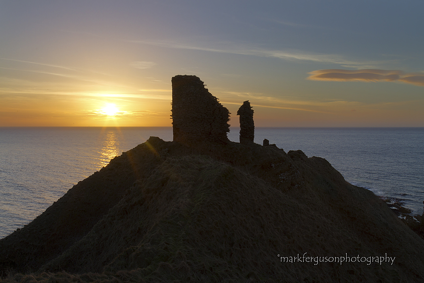 Forse castle winter sunrise
