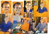 Making the portrait of Devakaran
