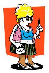 Brassy woman