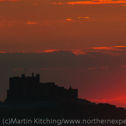 Sunset, Bamburgh Castle