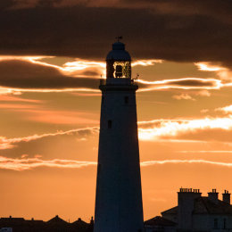 St Mary's Lighthouse, sunset
