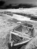 11A B&W old row boat, Berneray