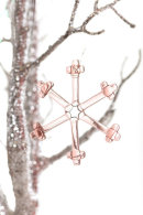 Snowflake (Peach) Christmas decoration