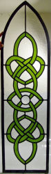 Stained glass window by Alison Thornton.