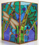 Tiffany stained glass dragonfly night light by Laura Thomlinson.