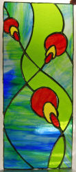 Tiffany stained glass panel by Mandy Stephens.