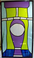 Stained glass panel by Sarah Bevan.