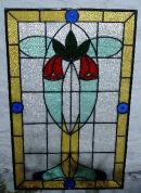 Art Nouveau Style Front Door Panel.
